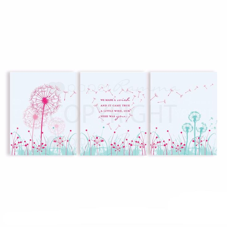 Dandelion Themed Nursery Art Print Gifts | PaperRamma