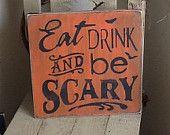 Halloween wooden sign, Halloween decoration, family Halloween. $19.99, via Etsy.