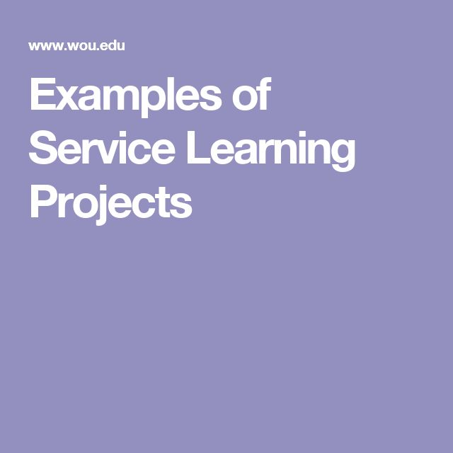 Essay on service learning project