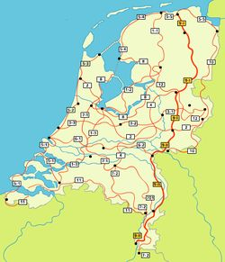 "The St. Pieterpad. 300 mile walking trail across Holland. Also possible by bike, ""Fietserpad"""