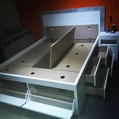 cama magica 2 plazas c/ 8 cajones + 2 bauleras + 2 botineros