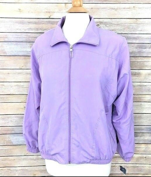 ae5ec7849e NWT Koret Womens Windbreaker Jacket Purple Sz Medium Zipper Lightweight  Vintage  Koret  Windbreaker  Casual