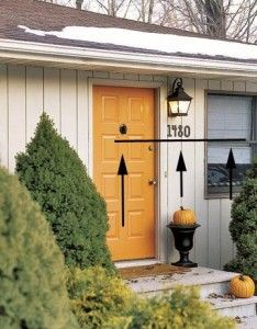 Lovely Where To Hang House Numbers. Finally. Orange Front DoorsColored ...