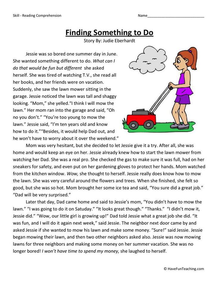 Third Grade Reading Comprehension Worksheets   Third grade ...