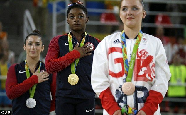 Team GB's youngest athlete Amy Tinkler wins bronze in gymnastics at Rio Olympics…