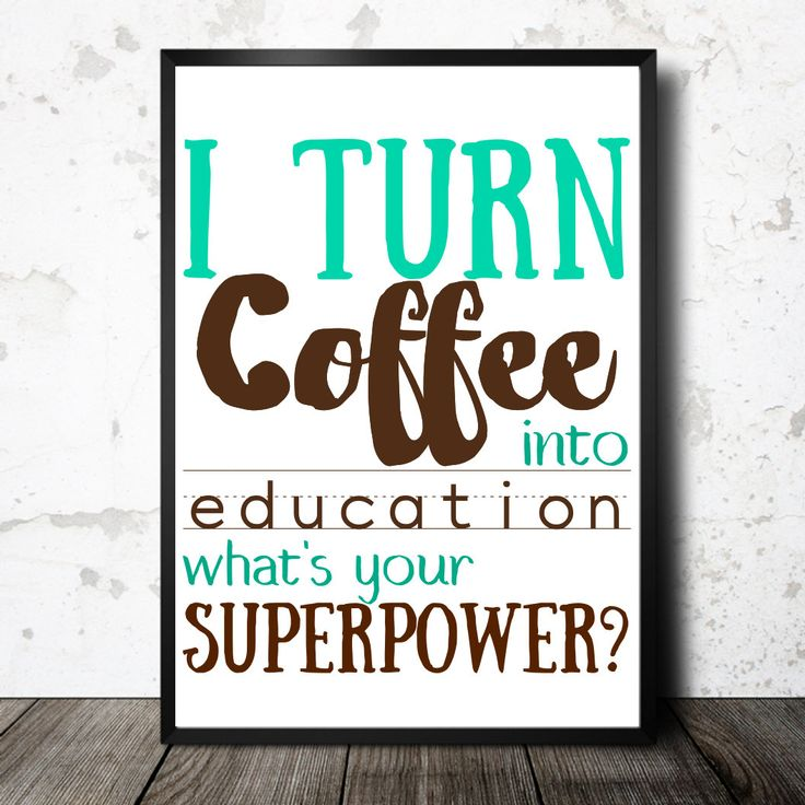 instant download teacher gift  printable coffee education  funny teacher poster super hero teacher what's your superpower cute gift  teacher by CamCreativeDesign on Etsy
