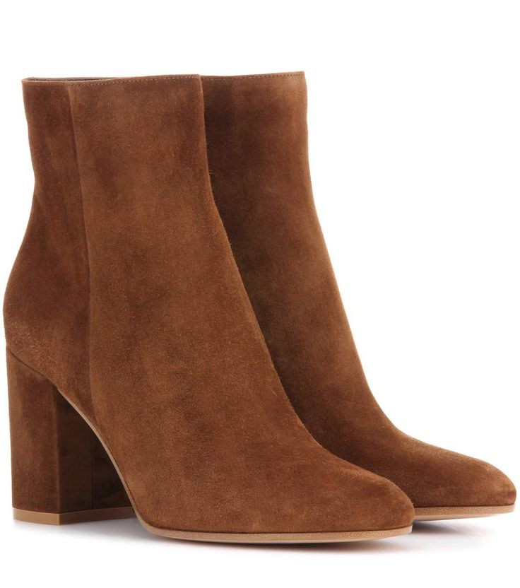 Gianvito Rossi - Exclusive to mytheresa.com – Rolling 85 suede ankle boots  | mytheresa. Brown Ankle BootsShoes ...