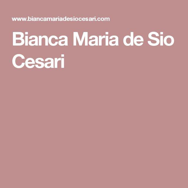 Bianca Maria de Sio Cesari