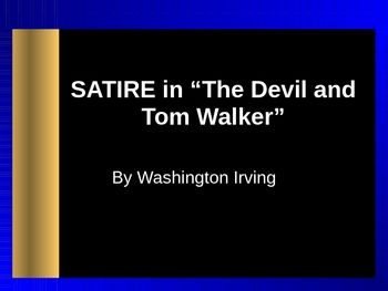 the devil and tom walker theme What literary devices were used in the devil  in washington irving's  the devil and tom walker , greedis an enduring theme  it's what drives tom to strike.