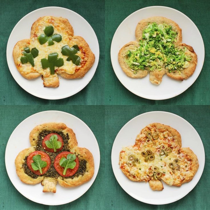 Shamrock Personal Pizzas for St. Patrick's Day
