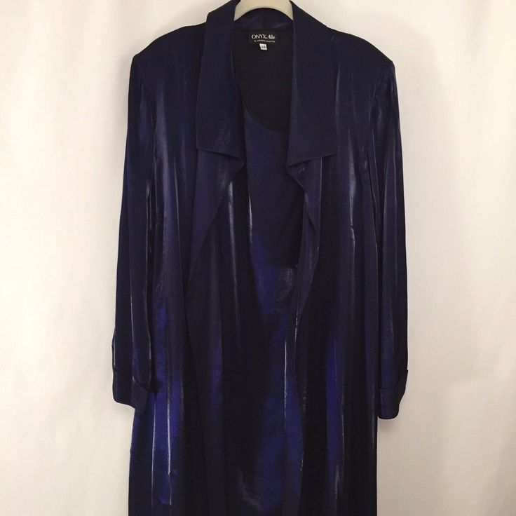 Onyx Nite Dress and Jacket Size 24 Purple Metallic Formal Mother of Bride USA