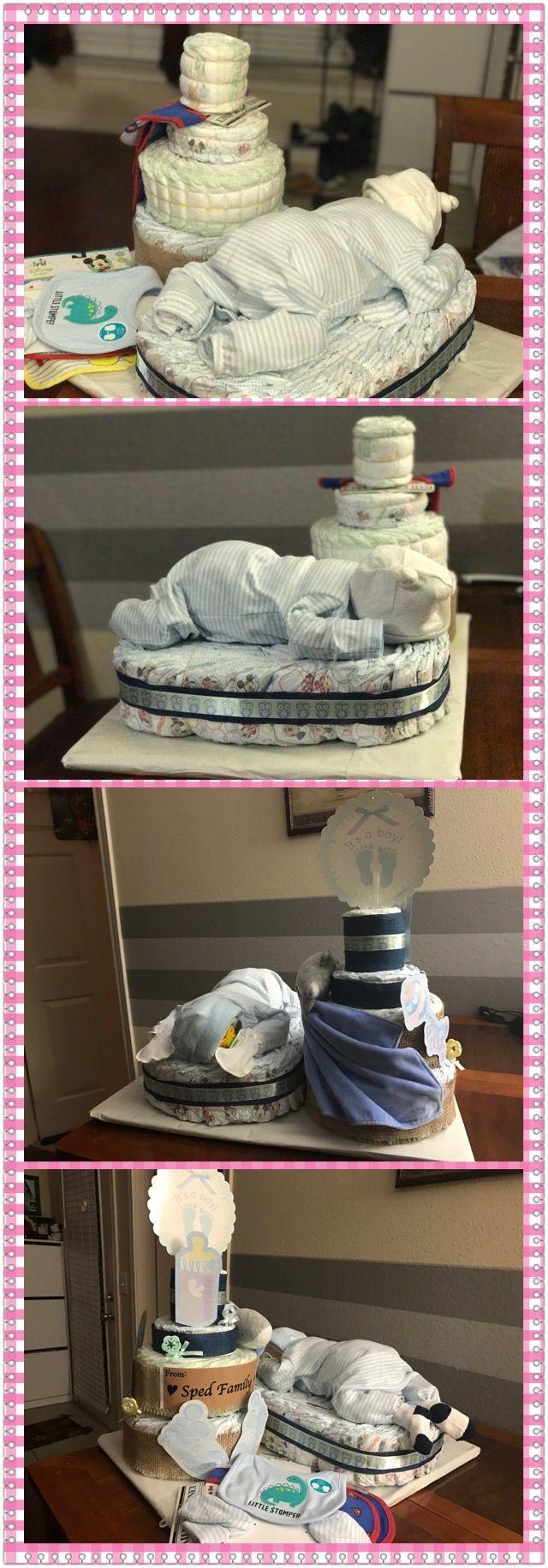 Baby diaper cake.