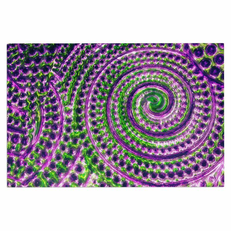 "Sylvia Cook ""Color Inspiration"" Green Purple Decorative Door Mat"