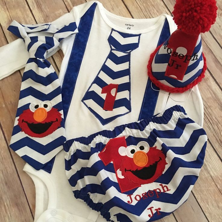 FREE SHIPPING !!!! Elmo inspired First Birthday Boy Cake Smash Set/ outfit by SammiRaes on Etsy https://www.etsy.com/listing/267214966/free-shipping-elmo-inspired-first