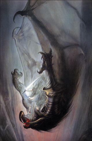 Gandalf et le Balrog par John Howe