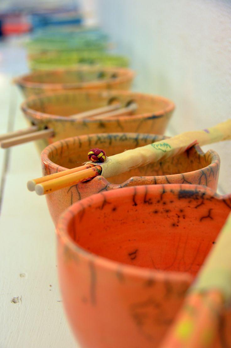 Noedelkommen in diverse kleuren - Keramiek Atelier Patty Schilder