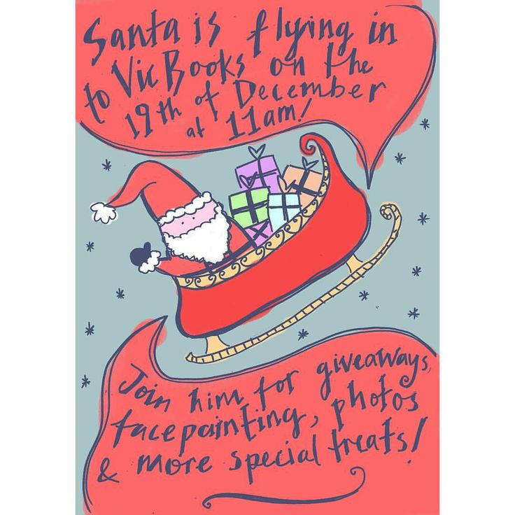 Santa is coming to Vic Books on the 19th! Do your last Xmas shopping and entertain ur kids at the same time. Or just come along for the face painting! #vicbooks