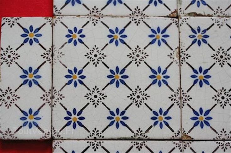 Lot carreau ancien faience desvres carrelage carreaux 1 for Carreaux faience anciens