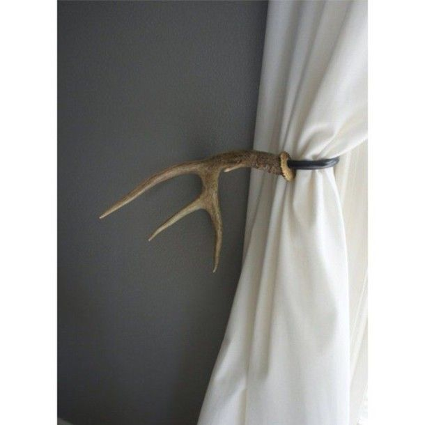 home accessory curtain rod antler country style country