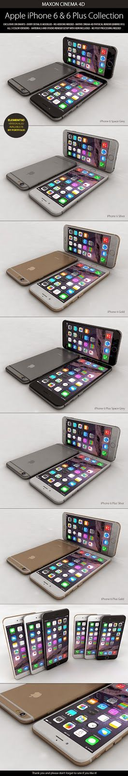 3D Model iPhone 6 & 6 Plus