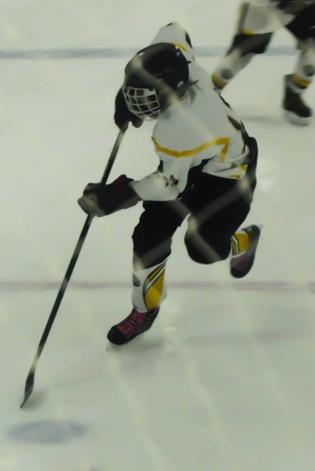 my little brother playing hockey