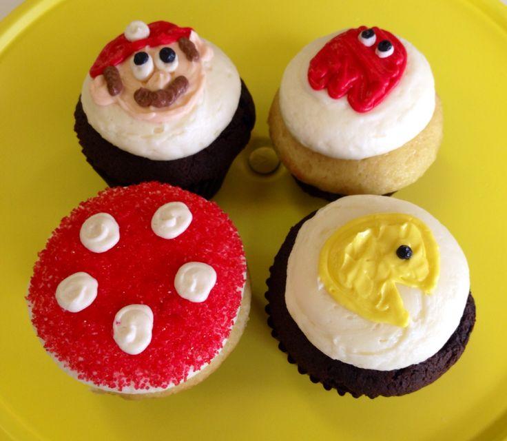 Super Mario and Pac-man cupcakes!  Sarah's Cake Shop