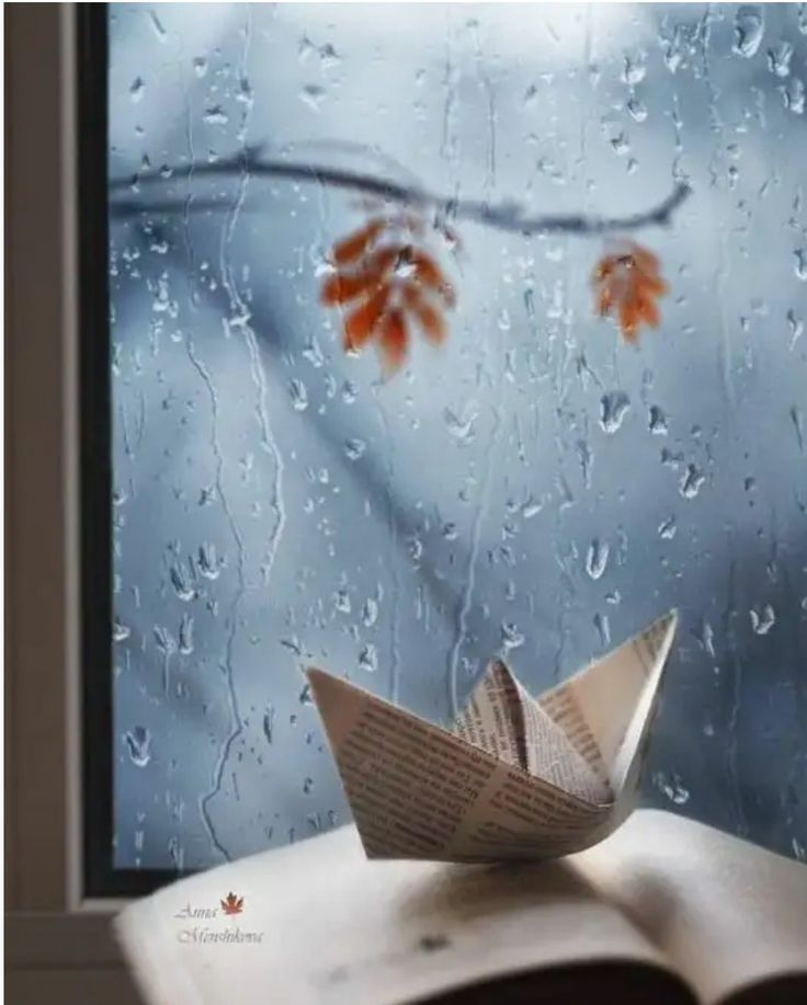 Уютной осени открытки дождик