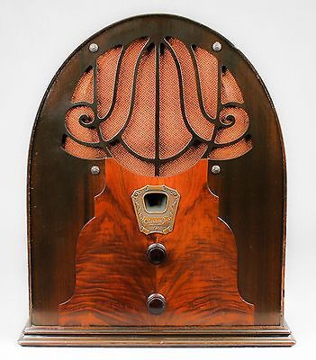 1931 Clarion Jr Wood Cathedral Vacuum Tube Radio -- L@@K!!