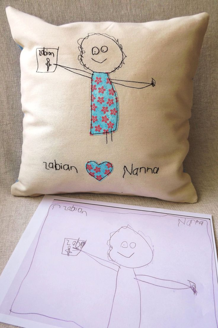 Child's Art Personalised Embroidered Cushion by RaspberryButton