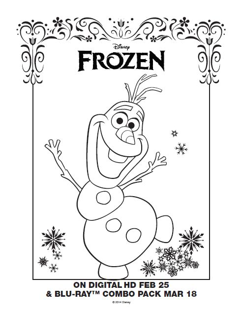 Frozen Coloring Pages A4 : Best images about coloring pages on pinterest