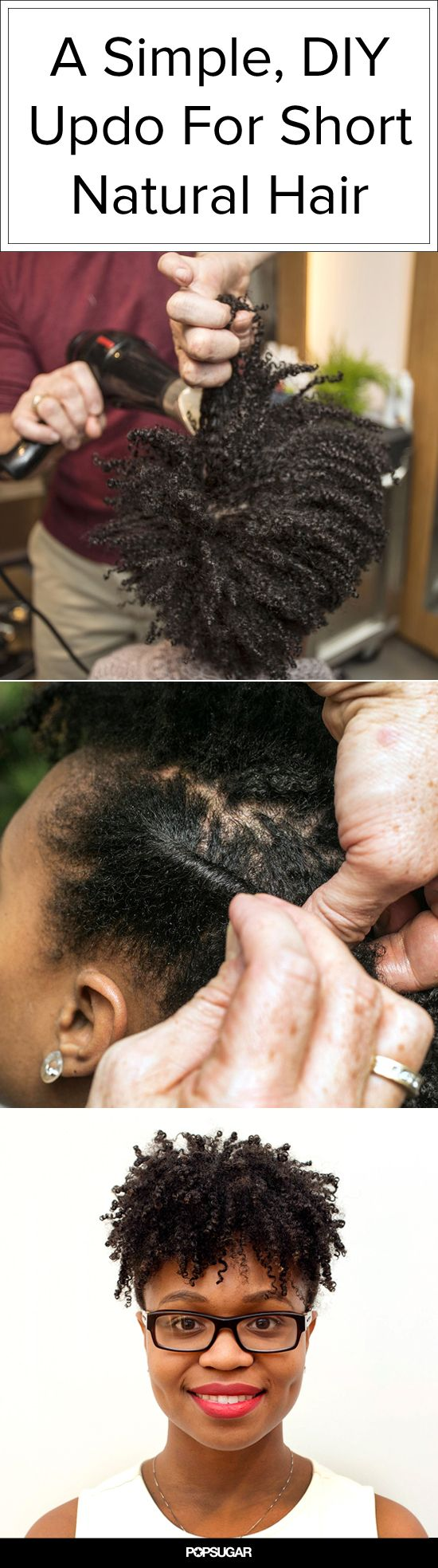 A Simple, DIY Updo That Works on Short Natural Hair