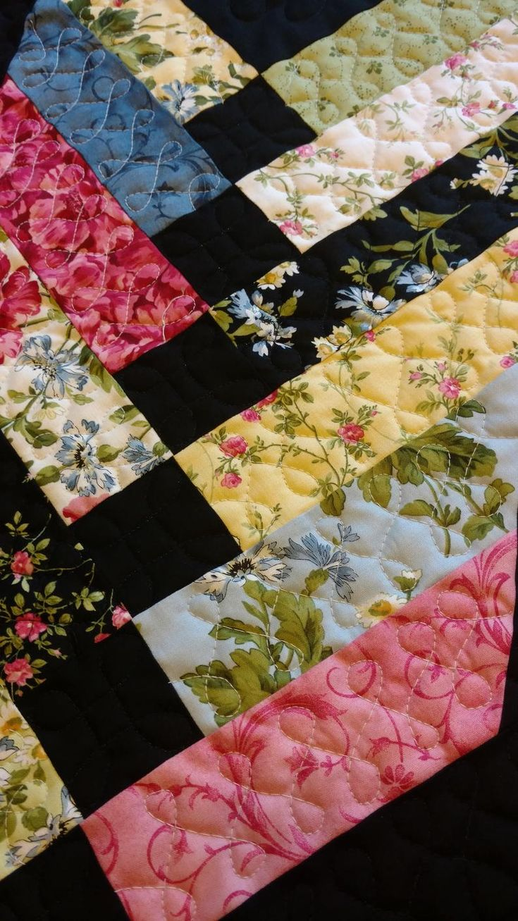 Floral Quilted Table Runner Farmhouse Table Decor Kitchen