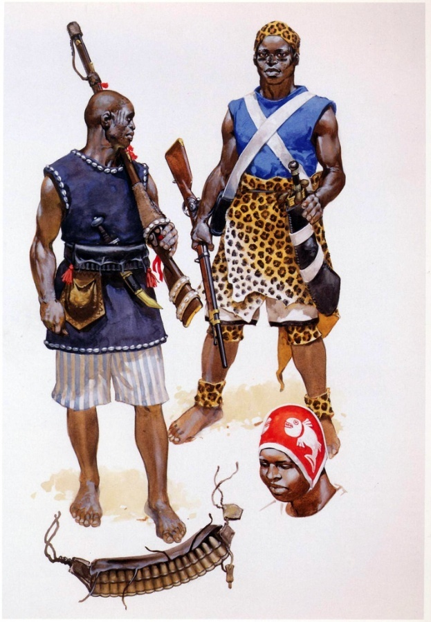Dahomey Warriors in the 1890´s