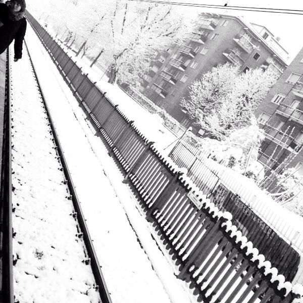 Neve a Cimiano.
