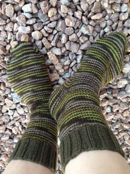 Hand Knitted Wool Socks size 7-8 Multicolor Good For by olinnell