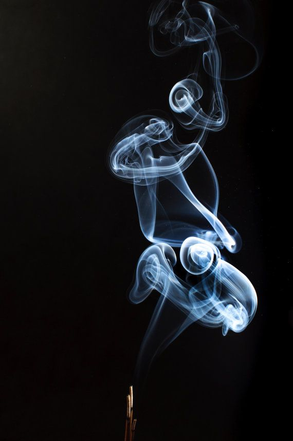 SALE  Blue smoke from an incense  photography by michalphotography, $190.00