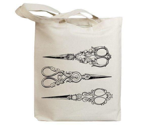 retro hairdresser scissors 01 vintage eco friendly canvas. Black Bedroom Furniture Sets. Home Design Ideas