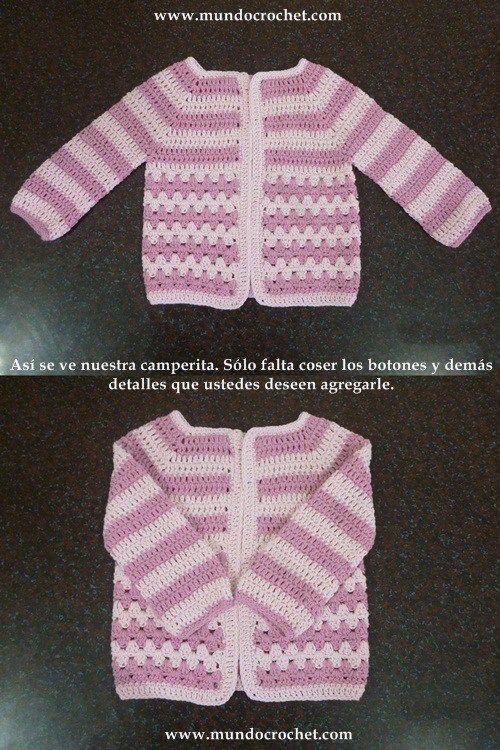Como tejer un saco, campera, cardigan o chambrita a crochet o ganchillo desde el canesu46