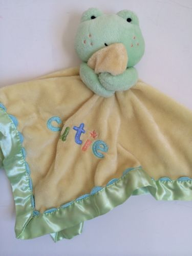 For Baby Just One Year Cutie Frog Security Blanket Carters