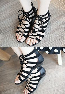 Laced Up Ankle Sandals  SFSELFAA0014014