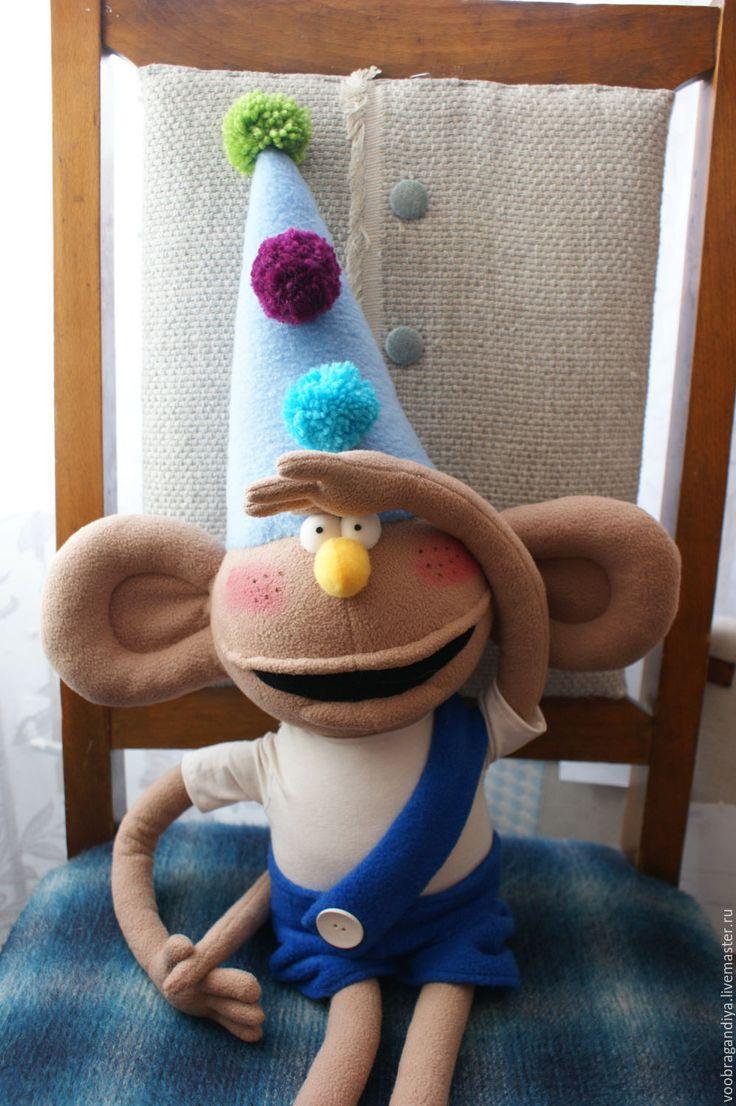 Купить Бамбино, приключения Фунтика - разноцветный, обезьянка, обезьяна, цирк, подарок, новый год 2016
