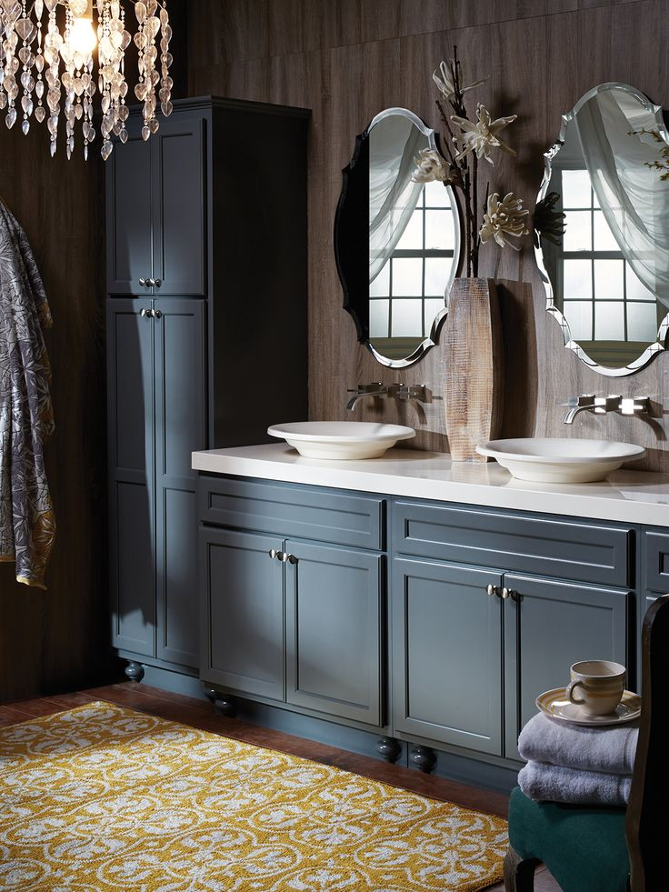 Northbrook Birch Graphite Bertch Bathroom Cabinetry