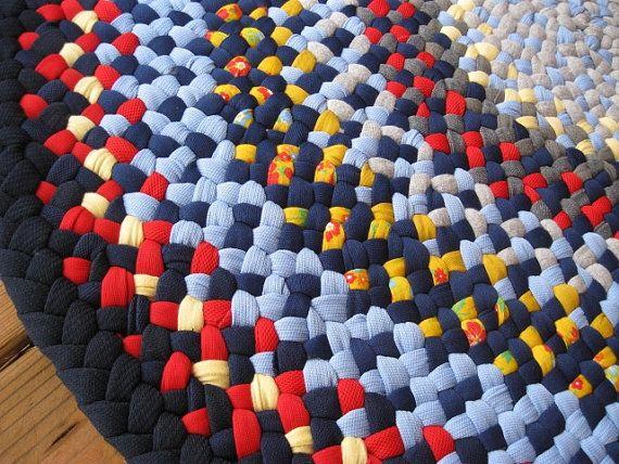 Ready To Ship Handmade Round Braided Rug / Carpet For Bathroom, Kitchen,  Nursery,