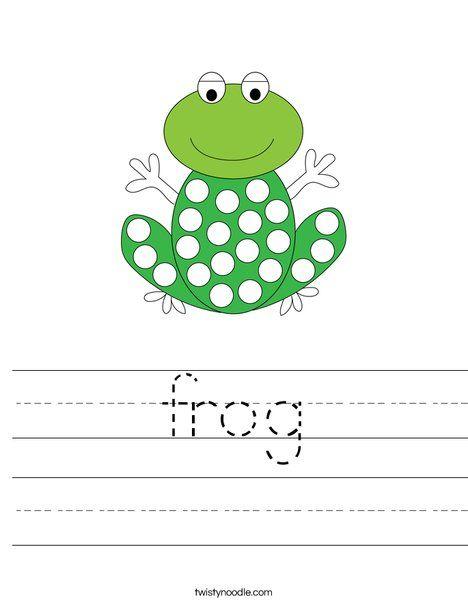 frog Worksheet - Twisty Noodle | Kids prints, Frog, Dot ...