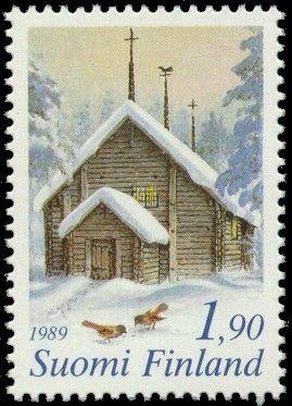 Joulupostimerkki 1989 2/2 - Joulu maaseudulla