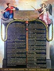Declaration of the Rights of Man and of the Citizen -  Déclaration des droits de l'homme et du citoyen