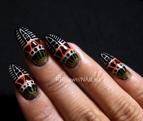 African Nail Art: 1000+ Images About **NAILS WITH AFRICAN PRINTS** On