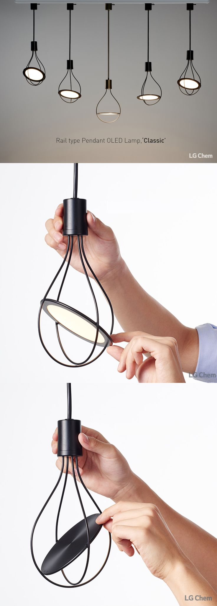LG Display OLED Classic - the classic light bulb re-shaped using OLED technology.
