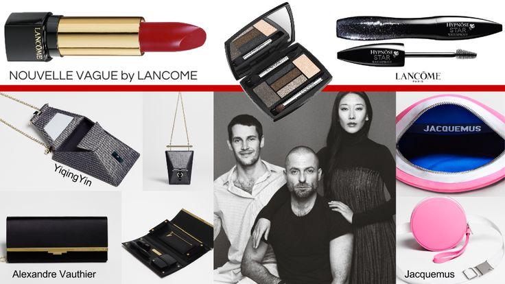 NOUVELLE VAGUE by LANCÔME. UN INCONTRO IN BELLEZZA con tre talenti della moda francese per tre pochette-couture esclusive