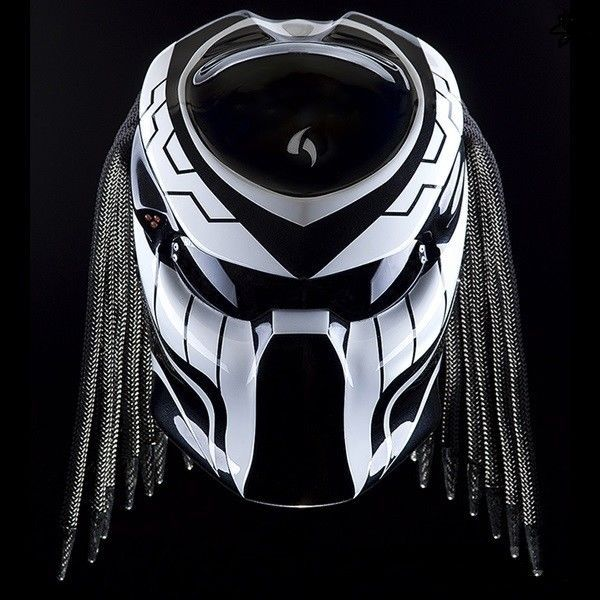 PREDATOR HELMET MOTORCYCLE STREET FIGHTER STYLE DOT & ECE APPROVED #NHK #Predator